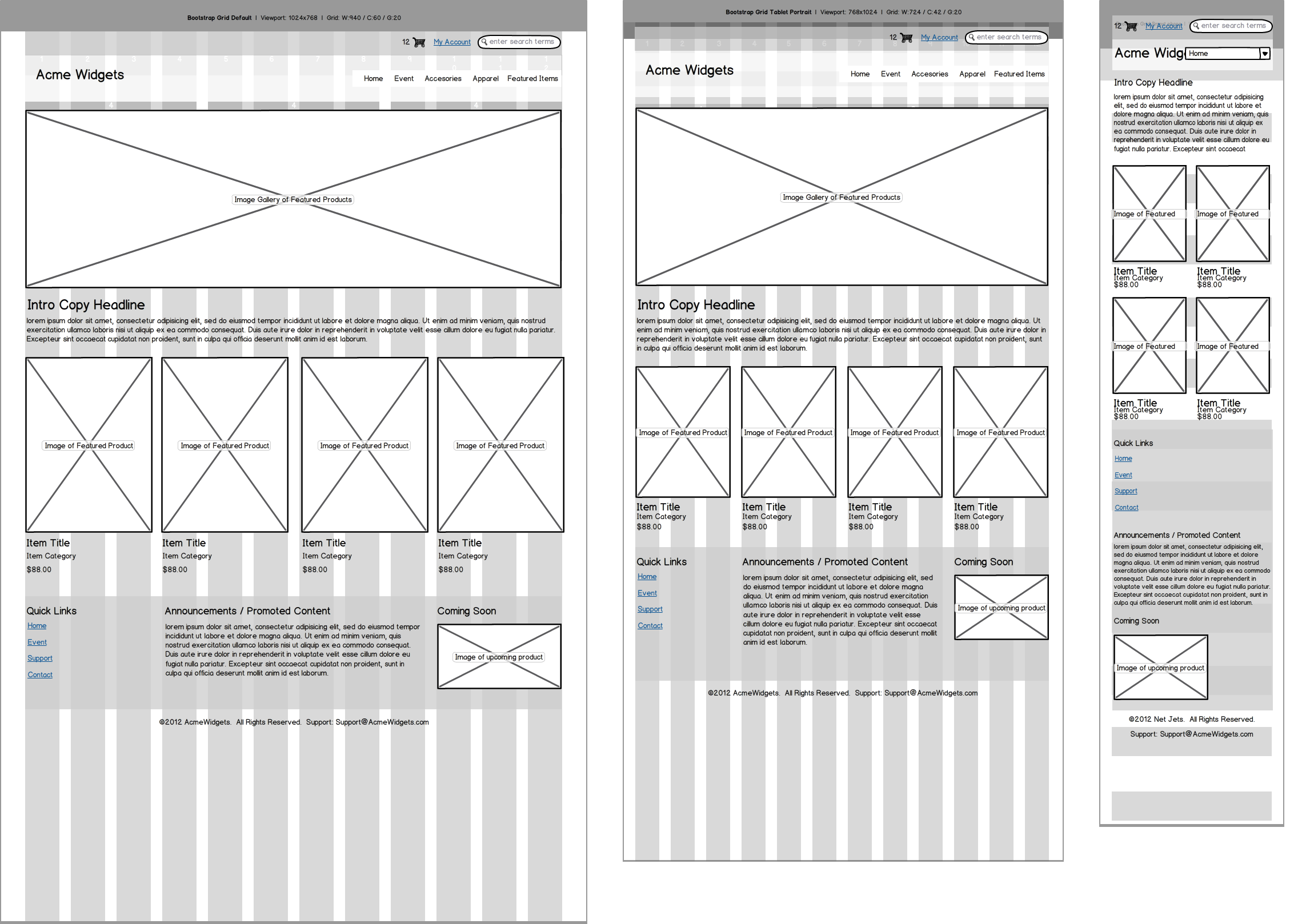 Wireframing For Responsive Design Wireframing Academy Balsamiq