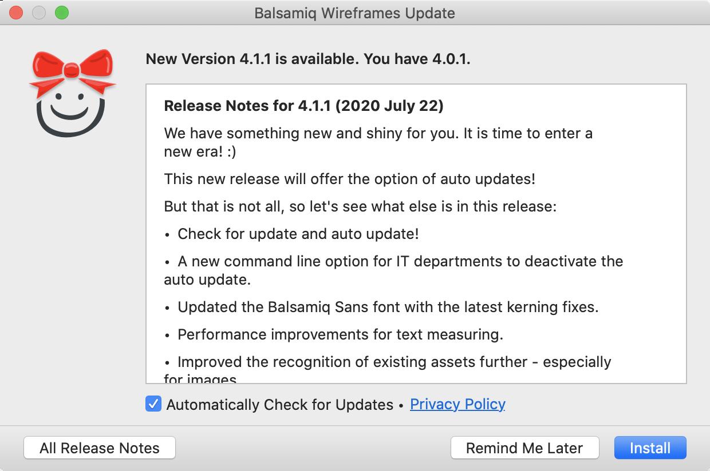 Balsamiq Wireframes Release Notes For Balsamiq Wireframes 4 1 Announcement Balsamiq