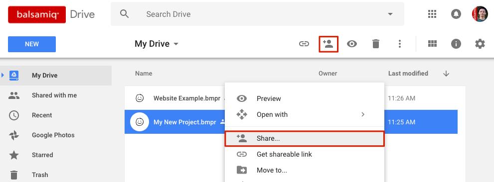 Troubleshooting Sharing Error In Balsamiq Wireframes For Google Drive Balsamiq For Google Drive Documentation Balsamiq
